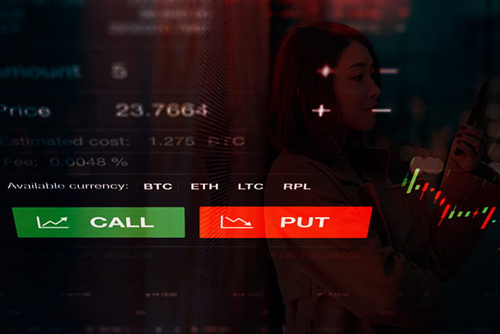 Call and Put Options trading